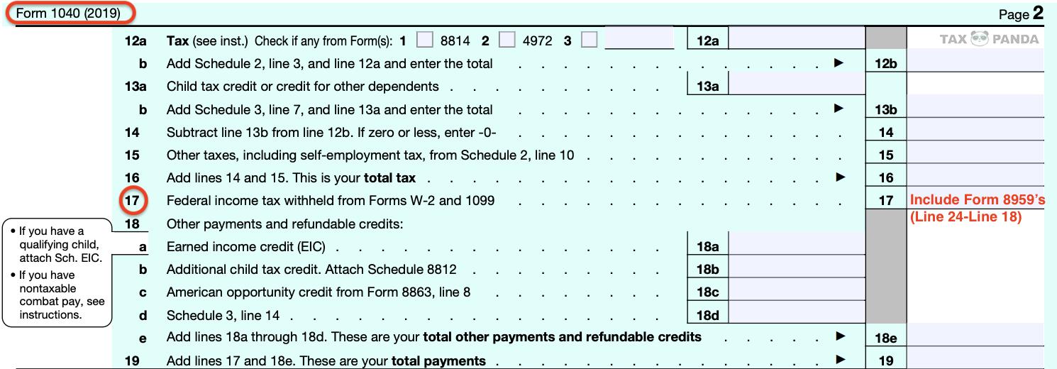 FICA退税 1040表三