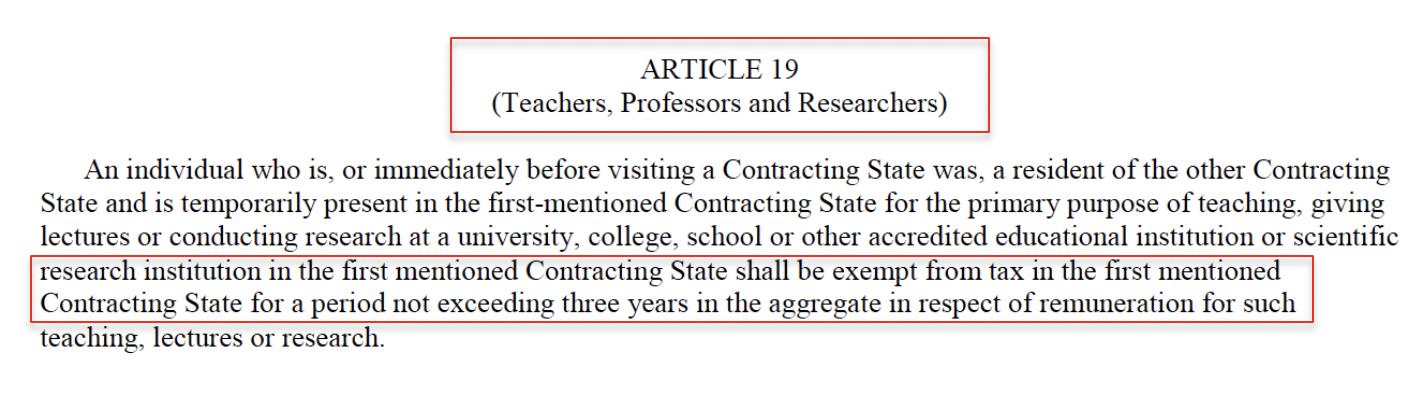 tax treaty article 19