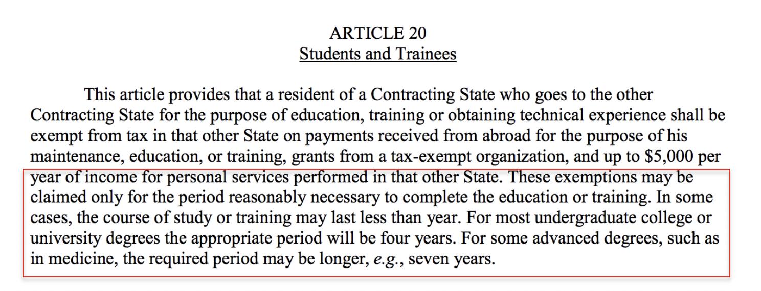 tax treaty article 20 RA