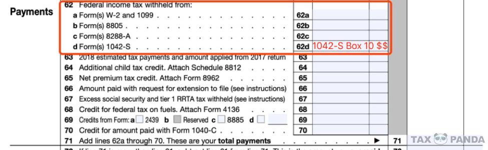 1042-S报税