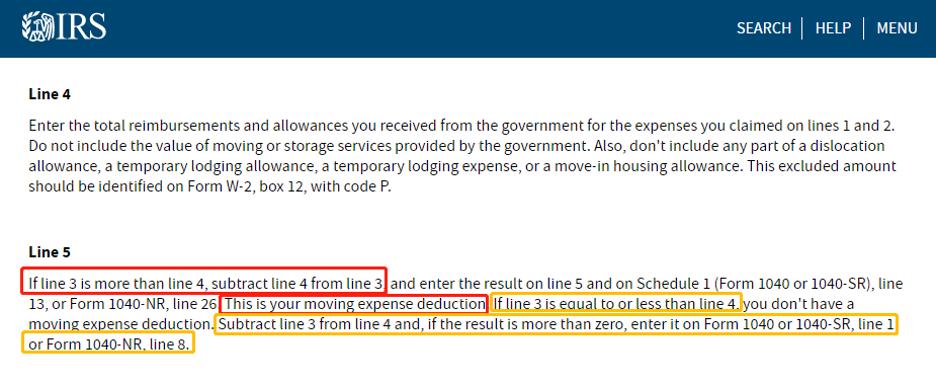 IRS 搬家报税